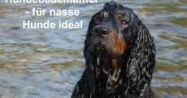 Hundebademantel ist für nasse Hunde ideal